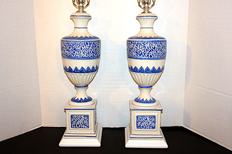 Blue And White Porcelain Table Lamps